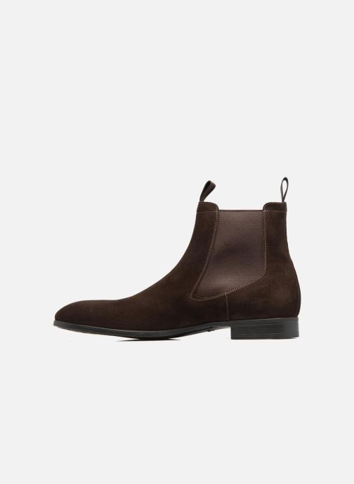 Ankle boots Santoni Simon 13414 Brown front view