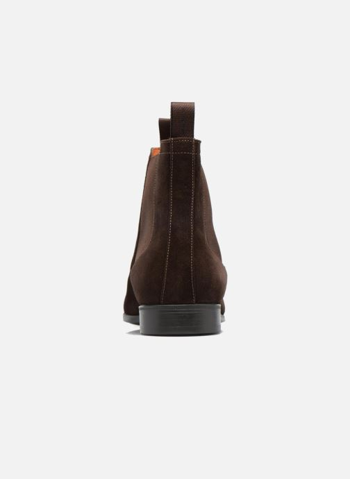 Ankle boots Santoni Simon 13414 Brown view from the right