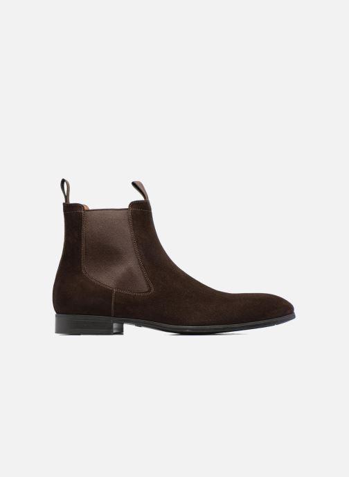 Ankle boots Santoni Simon 13414 Brown back view