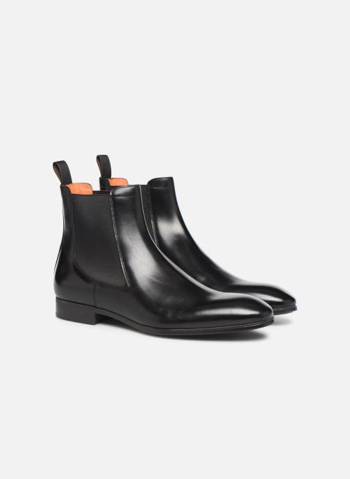 Bottines et boots Santoni Simon 13414 Noir vue 3/4