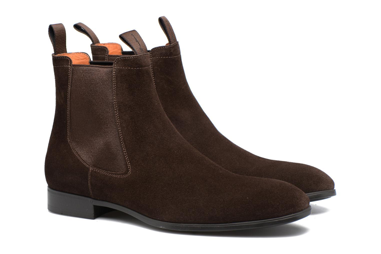 Bottines et boots Santoni Simon 13414 Marron vue 3/4