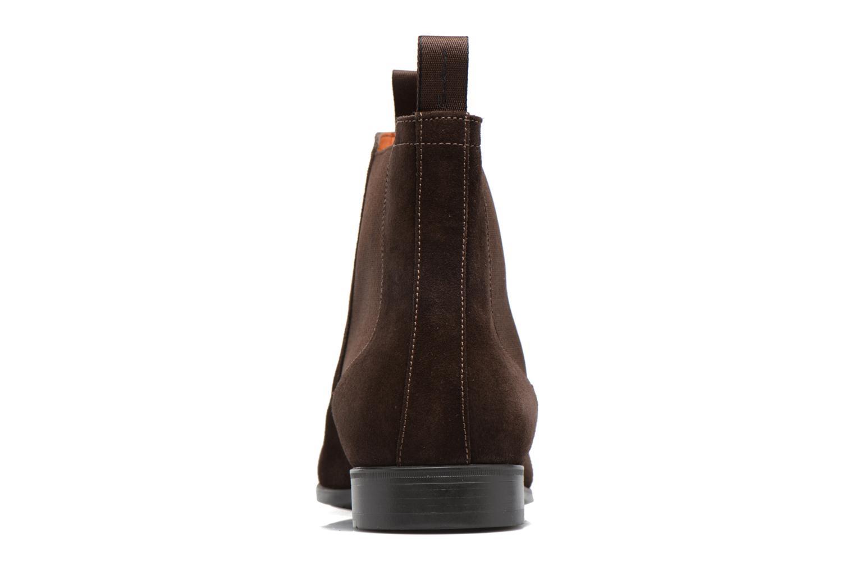 Bottines et boots Santoni Simon 13414 Marron vue droite
