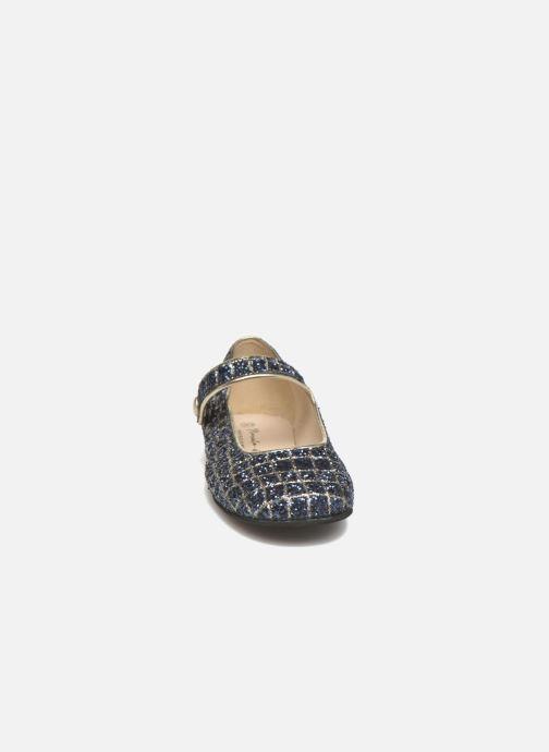 Ballerines Manuela de Juan Robine Bleu vue portées chaussures