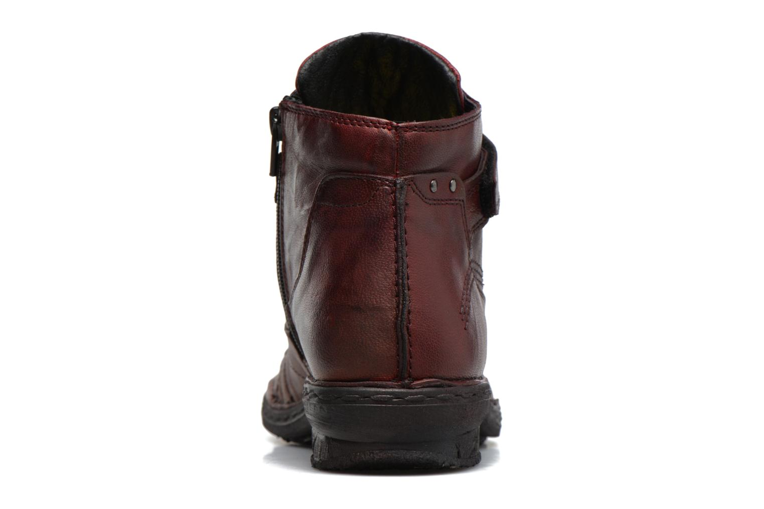 Ankle boots Khrio Rehayen Burgundy view from the right