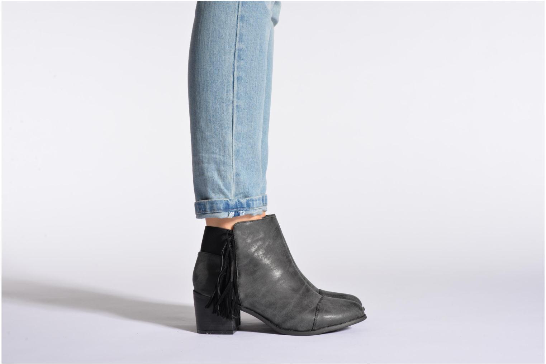 Bottines et boots Eclipse Bottine Janice Gris vue bas / vue portée sac