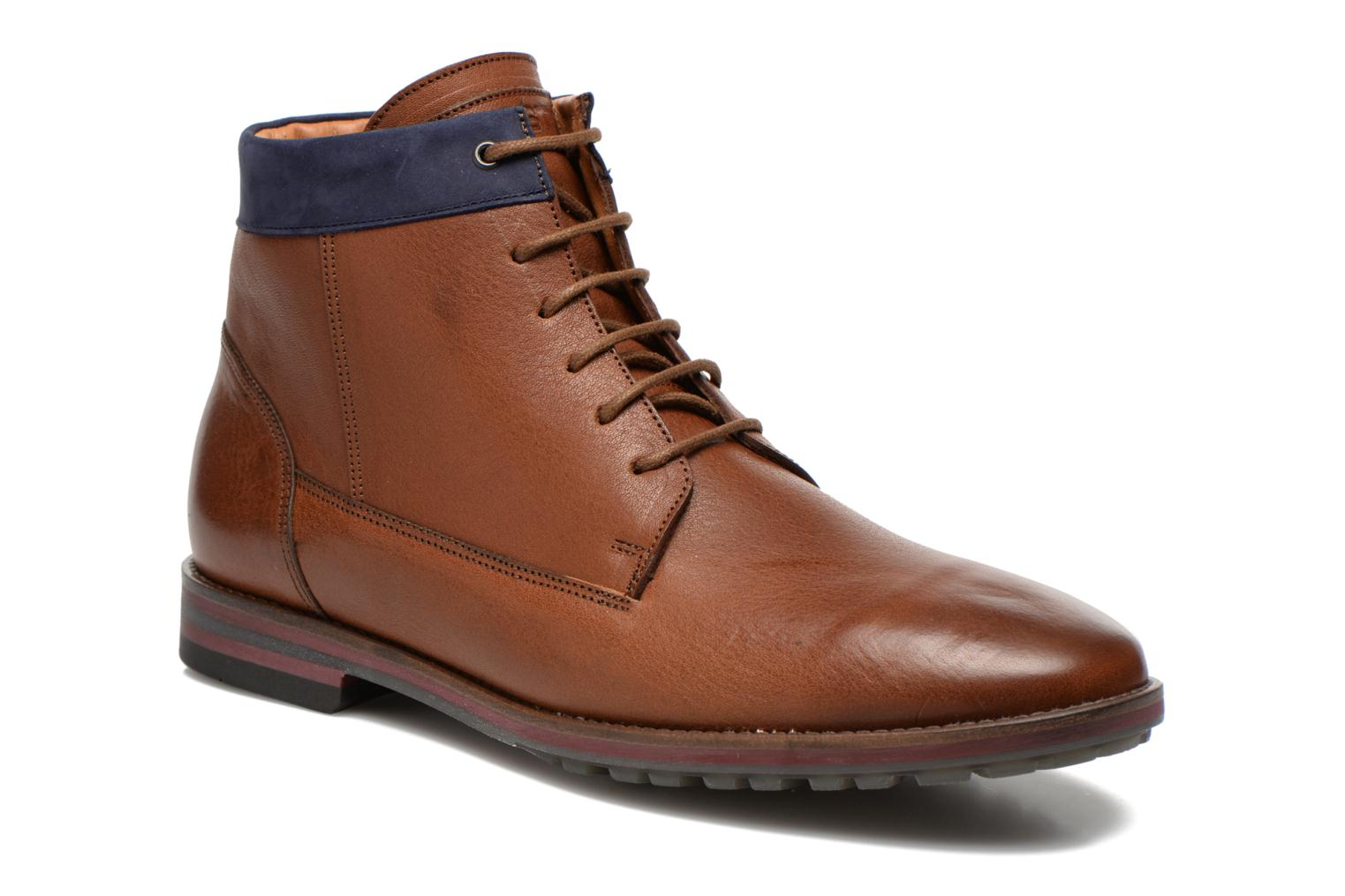 Ankle boots Kost Rotaller27 Brown detailed view/ Pair view