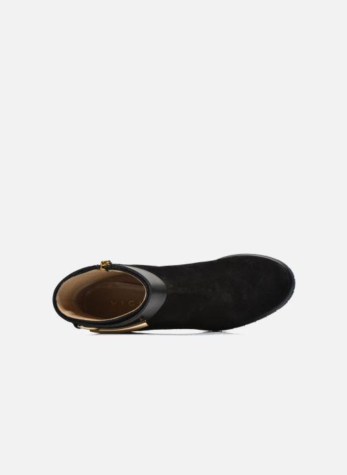 Boots en enkellaarsjes Vicini Bottines armature Zwart links