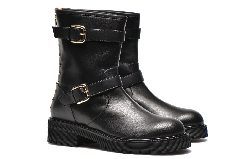 Bottines et boots Vicini Bottines biker Noir vue 3/4