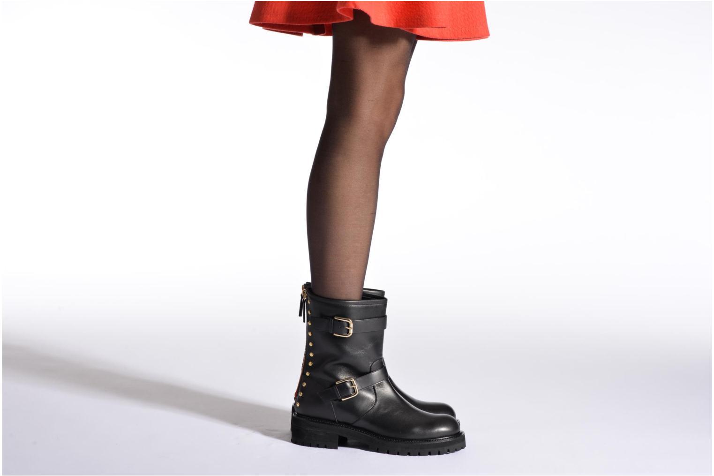 Bottines et boots Vicini Bottines biker Noir vue bas / vue portée sac