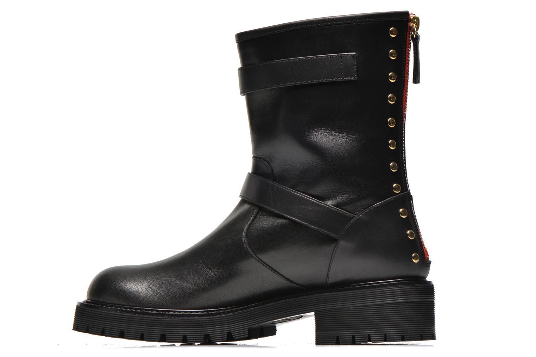 Bottines et boots Vicini Bottines biker Noir vue face