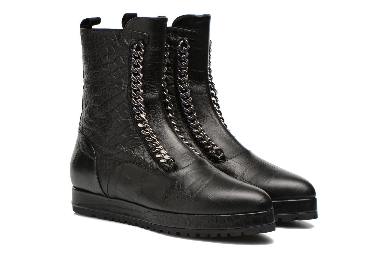 Boots en enkellaarsjes Vicini Bottines double chaîne Zwart 3/4'