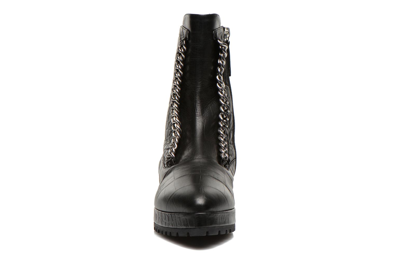 Boots en enkellaarsjes Vicini Bottines double chaîne Zwart model