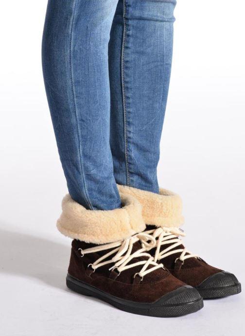 Bottines et boots Bensimon Boot Mountain Marron vue bas / vue portée sac