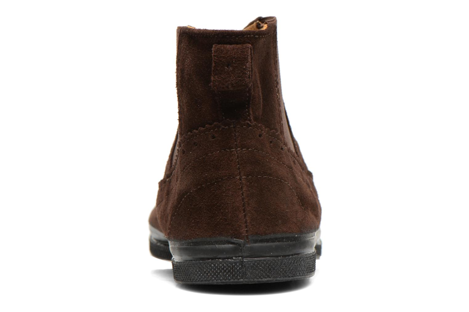 Ankle boots Bensimon Boot Chelsea Brown view from the right