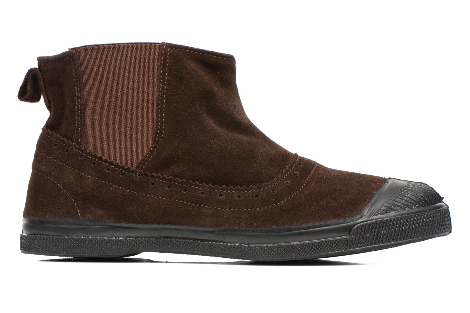 Ankle boots Bensimon Boot Chelsea Brown back view
