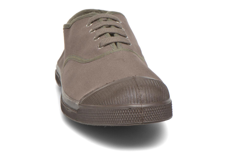 Baskets Bensimon Tennis Lacets Vintage Velours M Marron vue portées chaussures