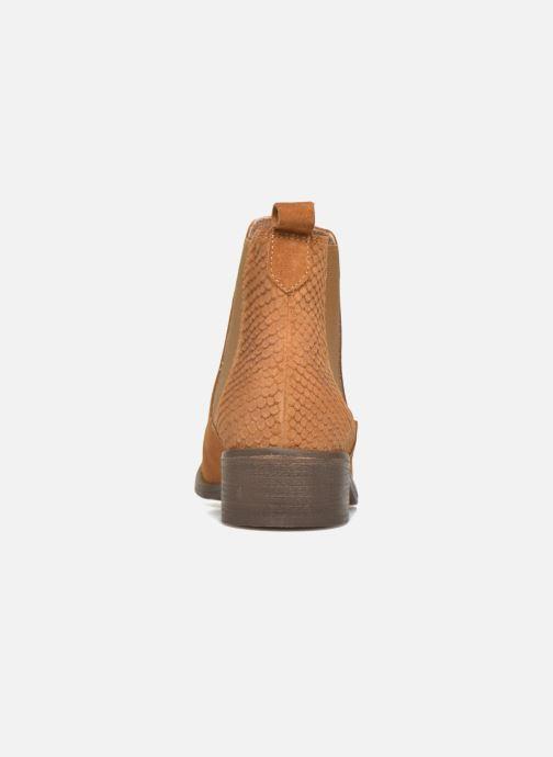 Botines  Bensimon Boots Elastiques Marrón vista lateral derecha