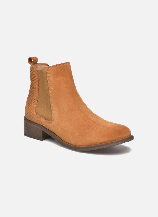 Boots en enkellaarsjes Bensimon Boots Elastiques Bruin detail