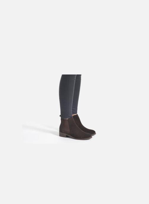 Bottines et boots Bensimon Boots Elastiques Marron vue bas / vue portée sac