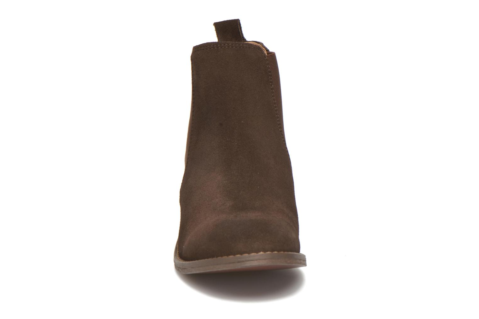Ankle boots Bensimon Boots Elastiques Brown model view