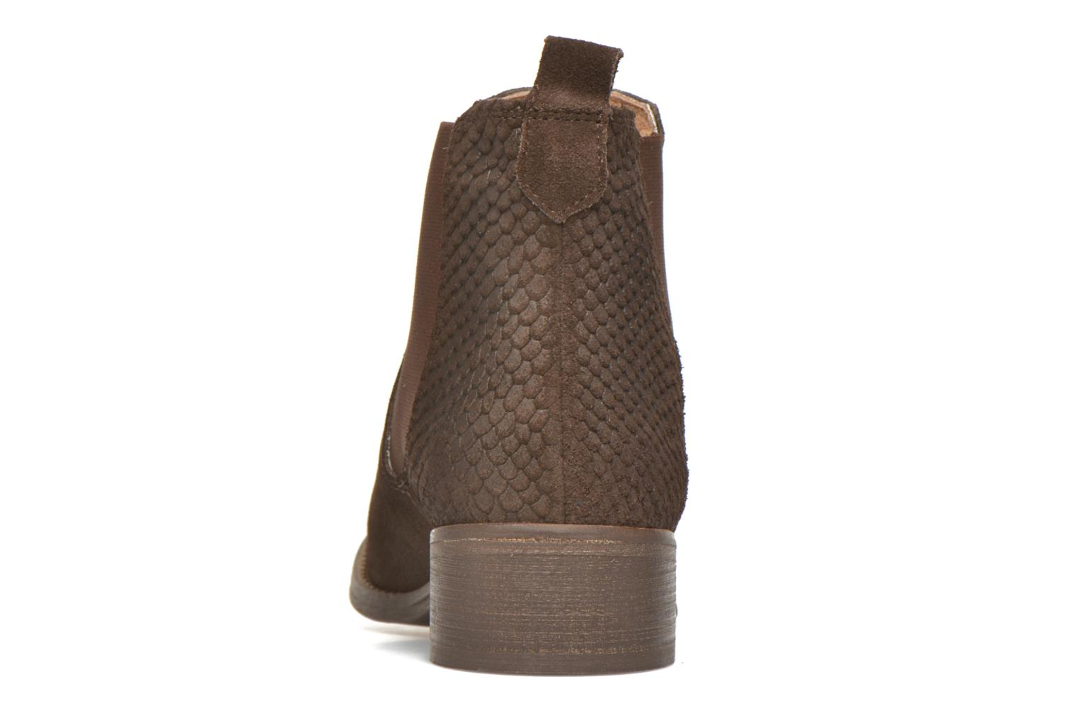 Ankle boots Bensimon Boots Elastiques Brown view from the right