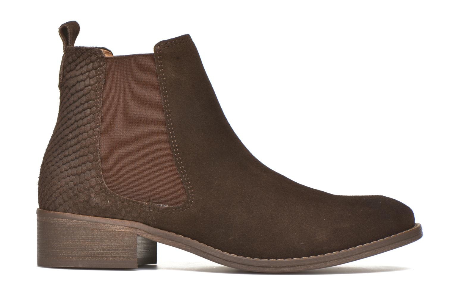 Ankle boots Bensimon Boots Elastiques Brown back view