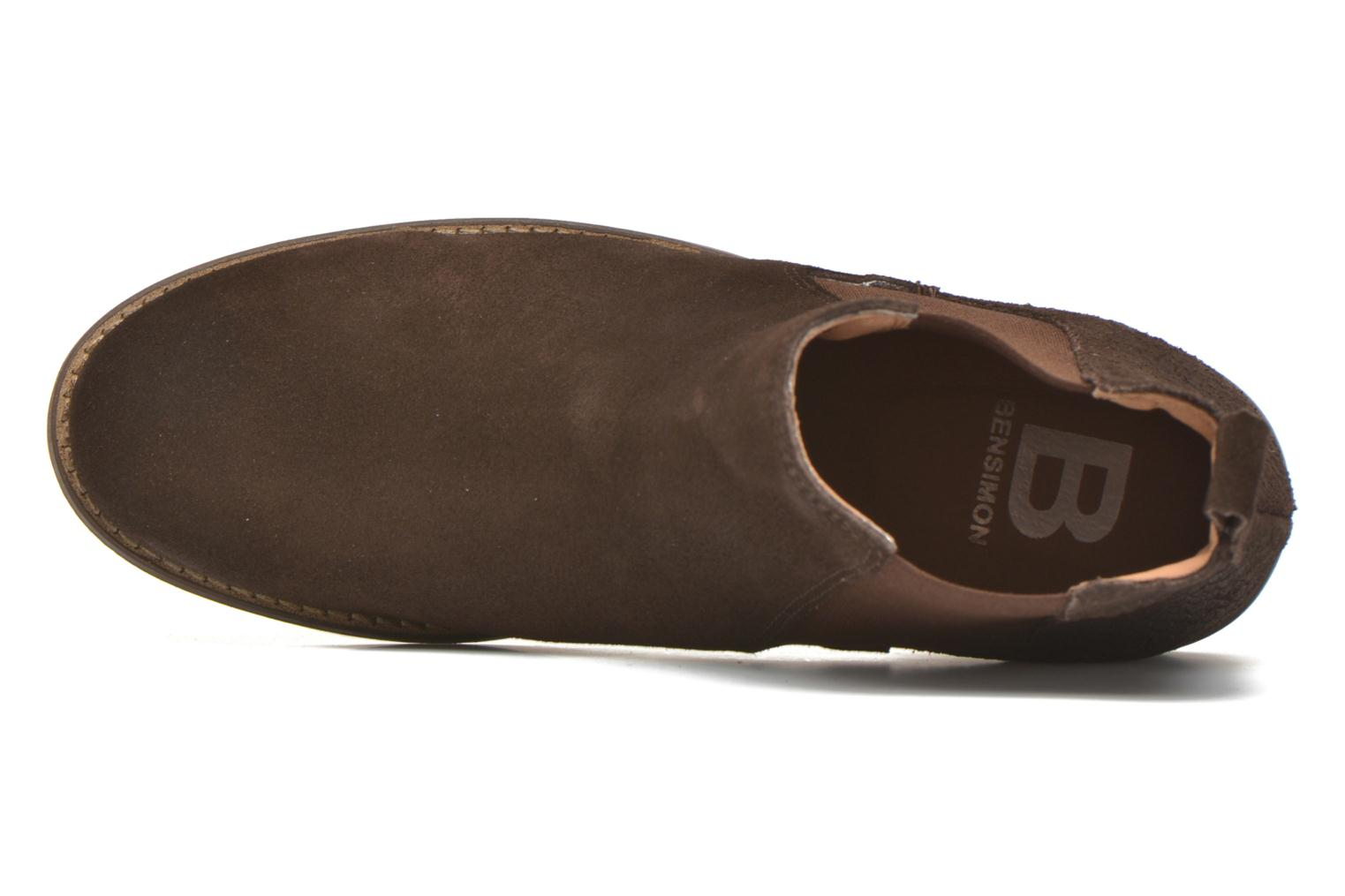 Ankle boots Bensimon Boots Elastiques Brown view from the left