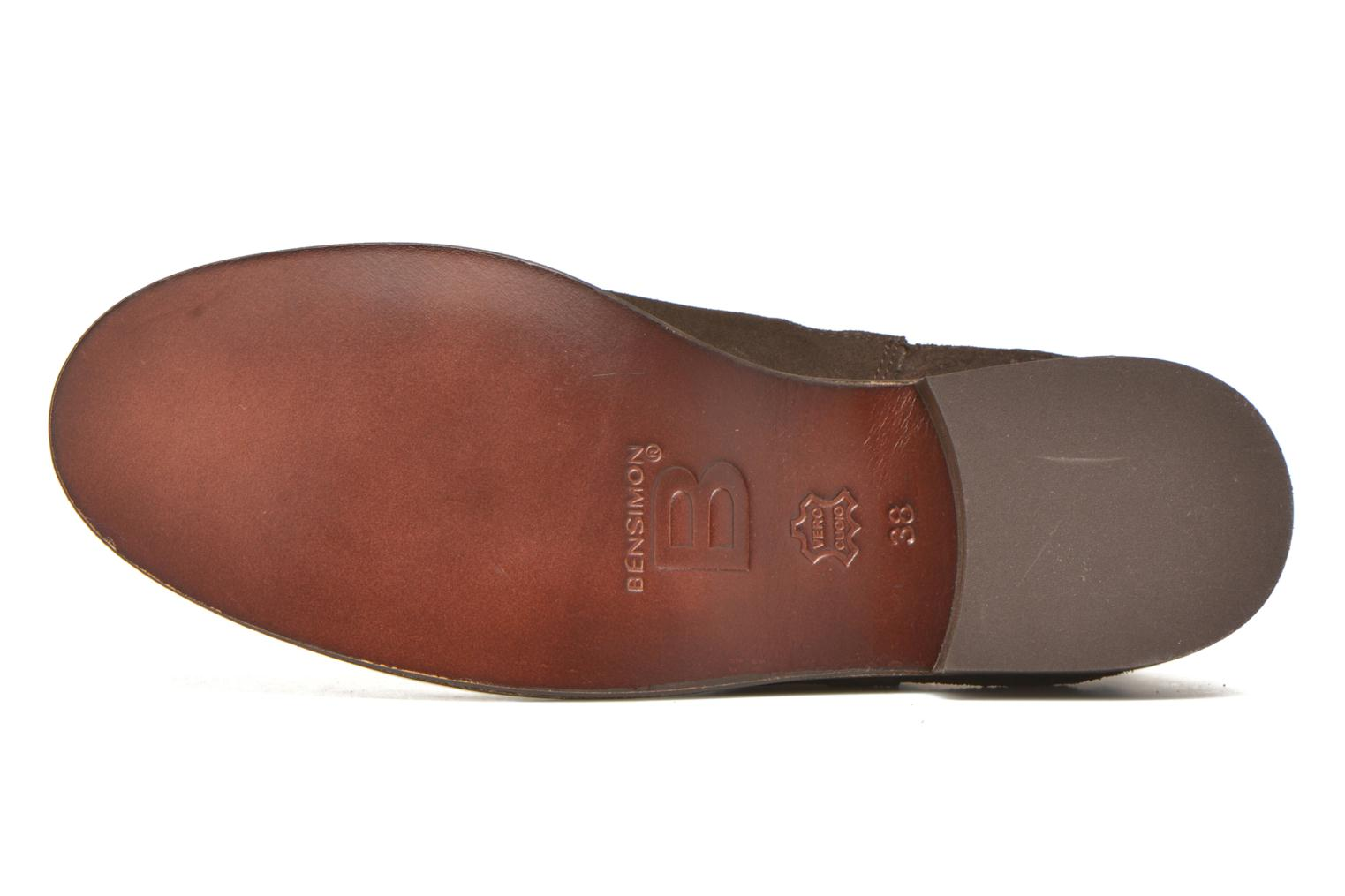 Ankle boots Bensimon Boots Elastiques Brown view from above