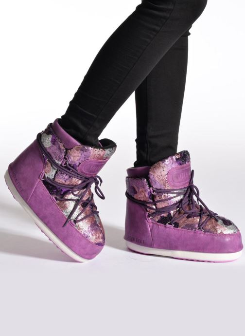 Stiefeletten & Boots Moon Boot Buzz Paillettes rosa ansicht von unten / tasche getragen