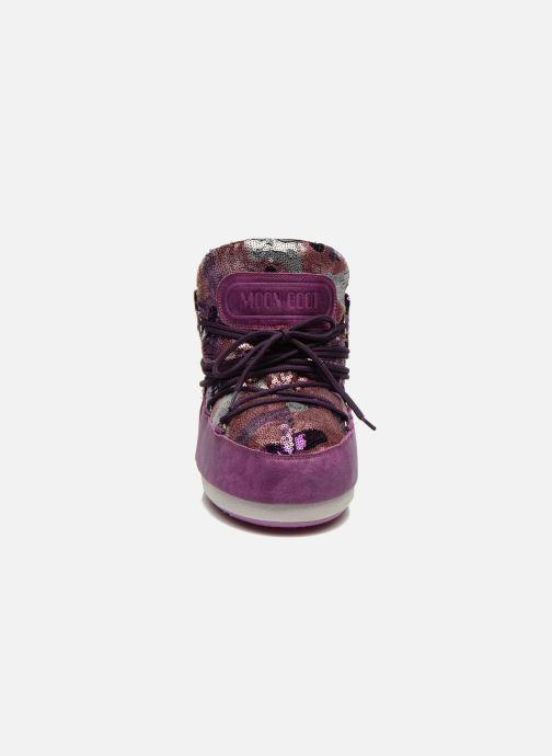 Bottines et boots Moon Boot Buzz Paillettes Rose vue portées chaussures