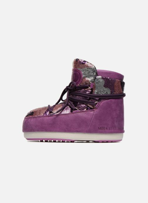 Bottines et boots Moon Boot Buzz Paillettes Rose vue face