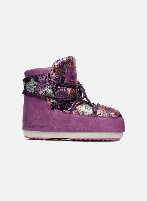 Bottines et boots Moon Boot Buzz Paillettes Rose vue derrière
