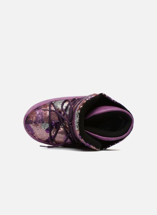 Stiefeletten & Boots Moon Boot Buzz Paillettes rosa ansicht von links