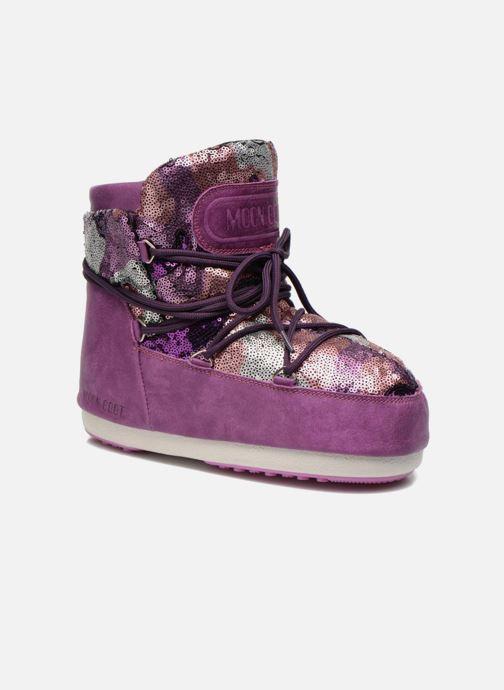 Bottines et boots Moon Boot Buzz Paillettes Rose vue détail/paire