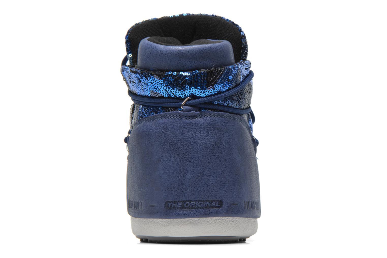 Bottines et boots Moon Boot Buzz Paillettes Bleu vue droite