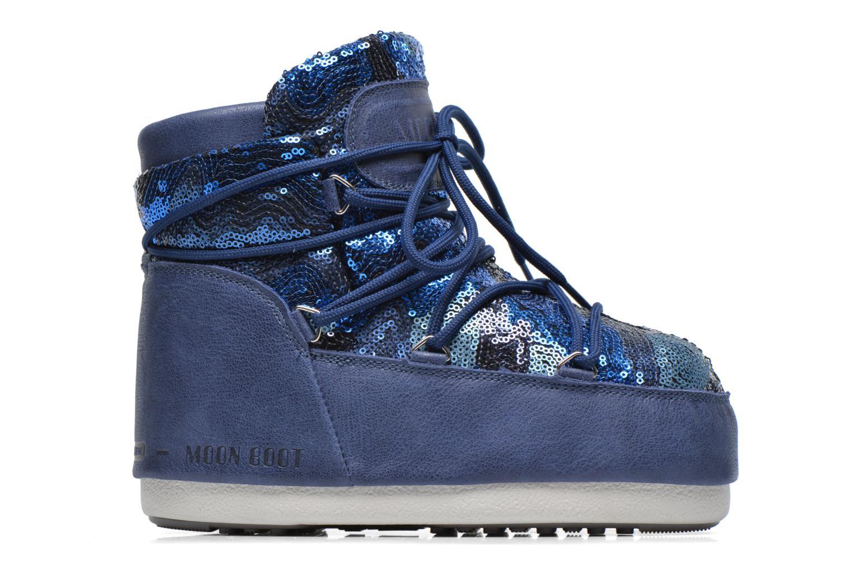 Bottines et boots Moon Boot Buzz Paillettes Bleu vue derrière