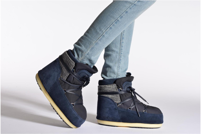 Bottines et boots Moon Boot Buzz Mix Bleu vue bas / vue portée sac
