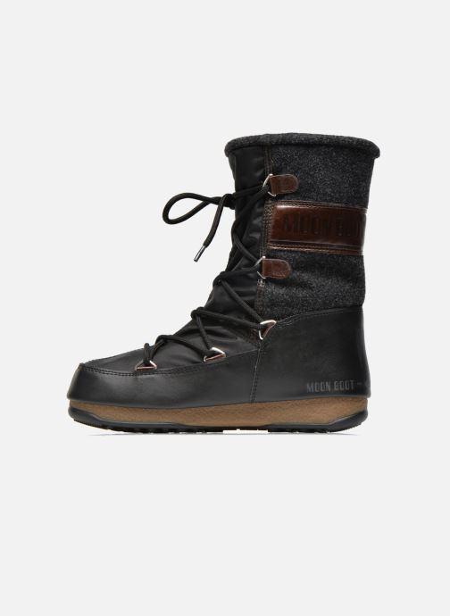 Boots en enkellaarsjes Moon Boot Vienna Felt Zwart voorkant