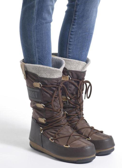 Bottines et boots Moon Boot Monaco Felt Noir vue bas / vue portée sac