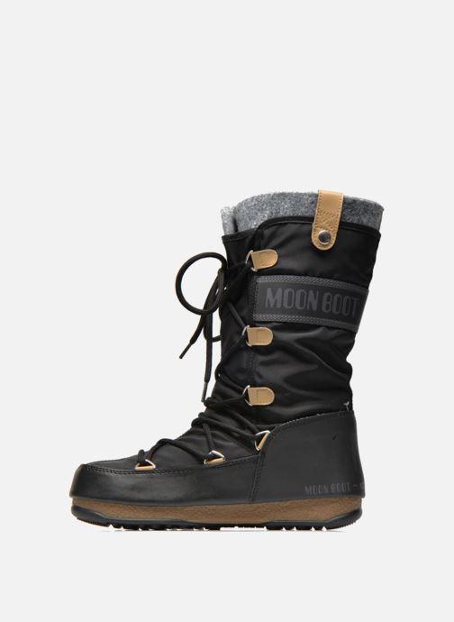 Bottines et boots Moon Boot Monaco Felt Noir vue face