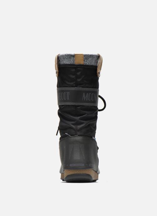 Bottines et boots Moon Boot Monaco Felt Noir vue droite