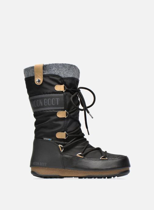 Bottines et boots Moon Boot Monaco Felt Noir vue derrière