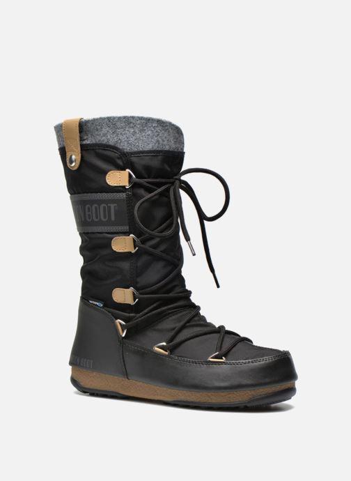 Bottines et boots Moon Boot Monaco Felt Noir vue détail/paire