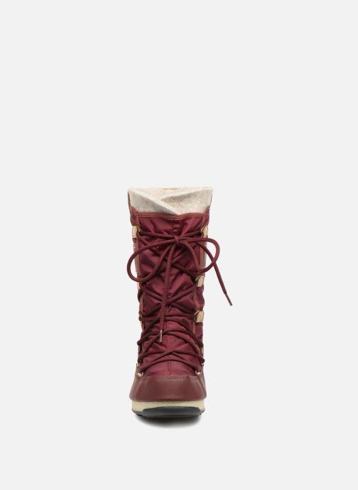 Stiefeletten & Boots Moon Boot Monaco Felt braun schuhe getragen