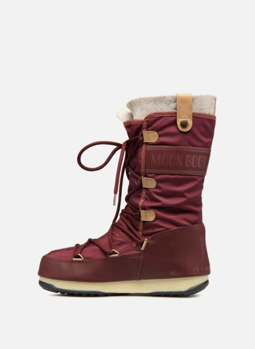 Bottines et boots Moon Boot Monaco Felt Marron vue face