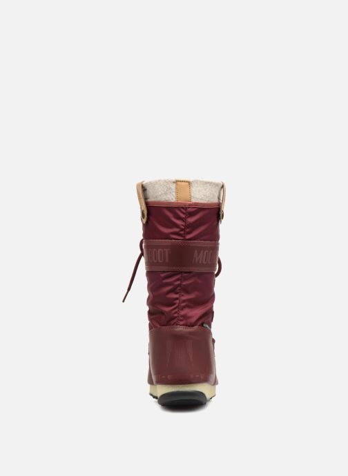 Bottines et boots Moon Boot Monaco Felt Marron vue droite