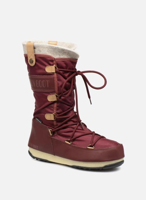 Bottines et boots Moon Boot Monaco Felt Marron vue détail/paire