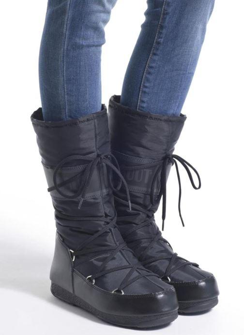 Chaussures de sport Moon Boot Soft Shade Noir vue bas / vue portée sac