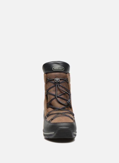 Moon Brown Lea Boot Lem black TlFJc31K