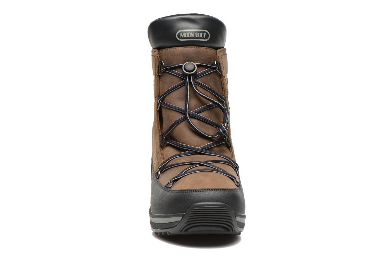 Zapatillas de deporte Moon Boot Lem Lea Marrón vista del modelo